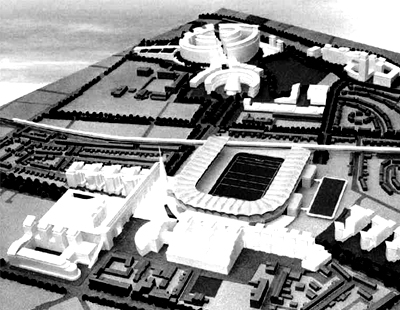 Model of Croke Park and Environs