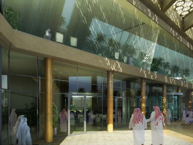 Directorate Offices Diriyah Saudi Arabia - Internal view of entrance