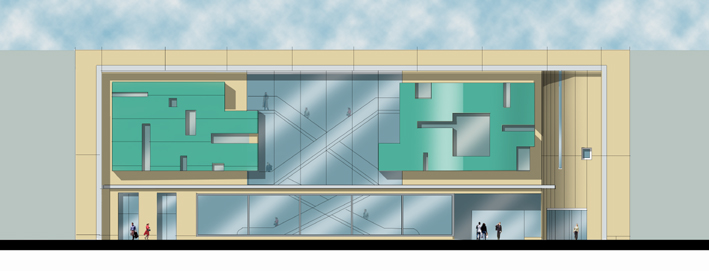 Concept Elevational Treatment at entry to Shopping Centre