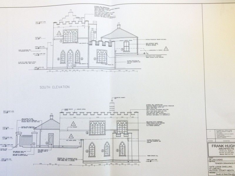 Elevations front and side