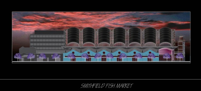 Smithfield Fruit Market Night View