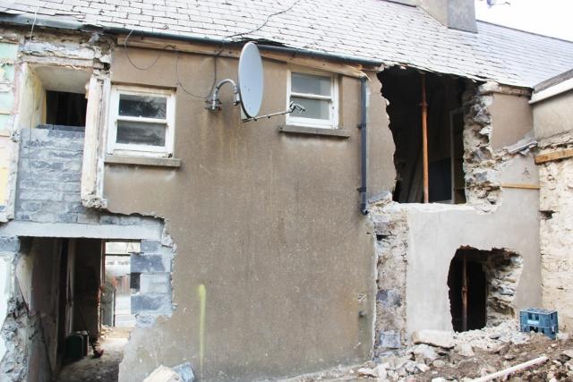 Demolition to rear
