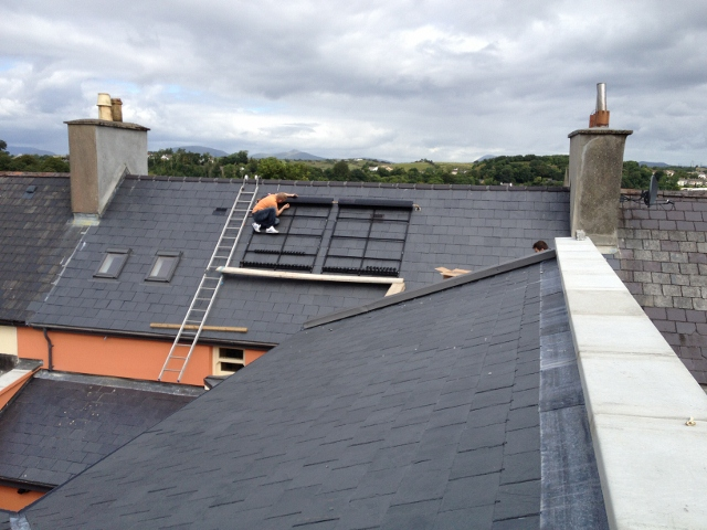 New extension roof