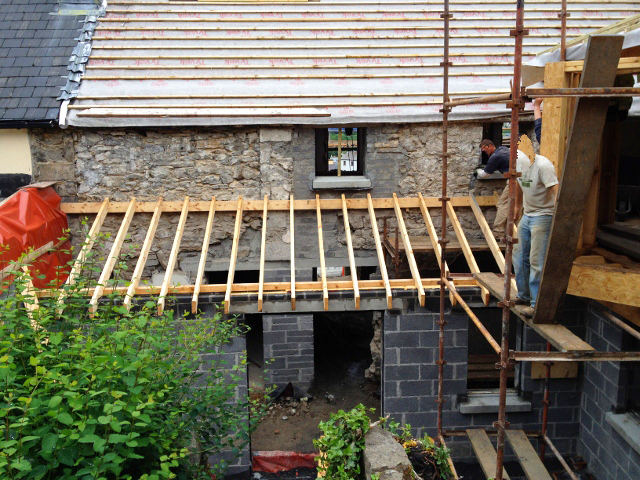 New rear courtyard and extension