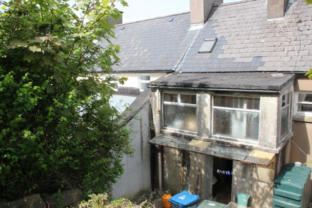 Rear of house before