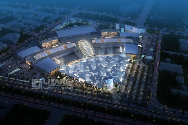 Red Sea Mall Jeddah aerial nightime (640x427)