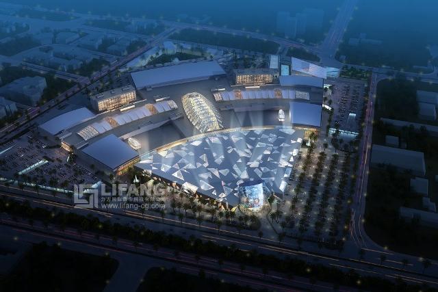Red Sea Mall Jeddah aerial nightime (640x427)