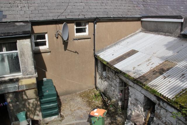 rear courtyard before