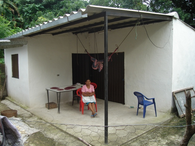 3 Lorenso Mejia outside her earthquake resistant home in Santa Marta, El Salvador (640x480)